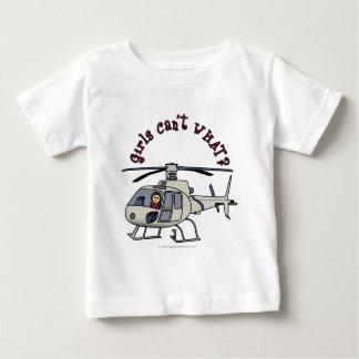 Fille légère de pilote d'hélicoptère t-shirt pour bébé