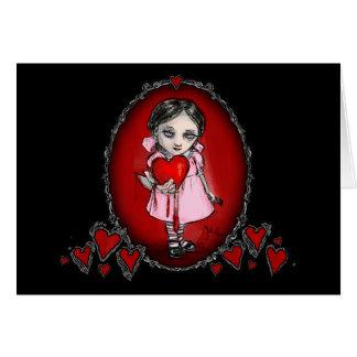 Fille malveillante de Valentine Carte De Vœux
