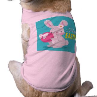 Fille mignonne de lapin de bande dessinée t-shirt pour chien