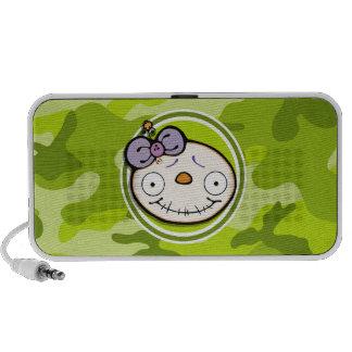 Fille mignonne de zombi camo vert clair haut-parleurs iPod
