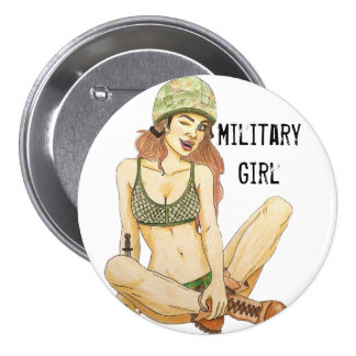 Fille militaire/Wive/insigne bouton d'amie Badges