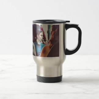 fille mug de voyage