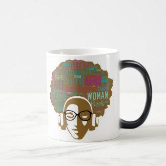 Fille nerd d'Afro : Tasse Morphing