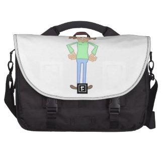 Fille nerd sacs ordinateurs portables