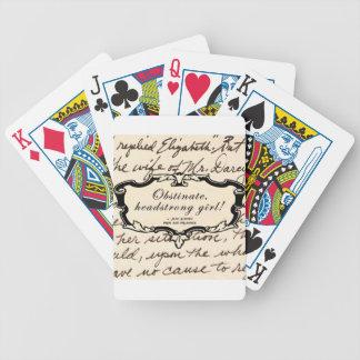 Fille obstinée et entêtée jeu de 52 cartes