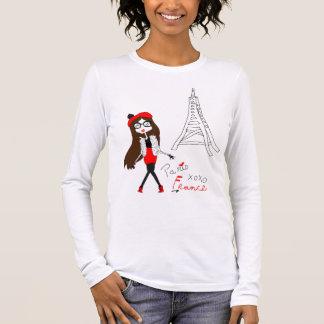 Fille parisienne t-shirt à manches longues