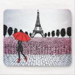 fille parisienne tapis de souris