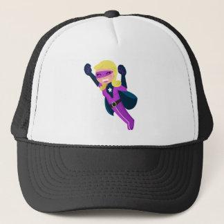 Fille pourpre de super héros casquette