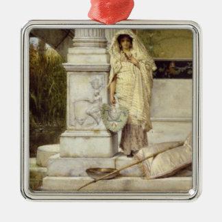 Fille romaine d'Alma-Tadema | Fisher, 1873 Ornement Carré Argenté