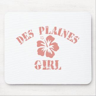 Fille rose de Des Plaines Tapis De Souris