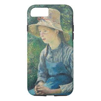 Fille rurale avec un chapeau de paille, 1881 coque iPhone 7