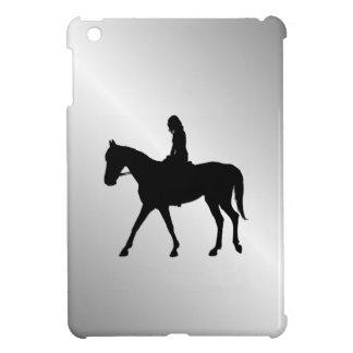 Fille sur l'argent de cheval étui iPad mini