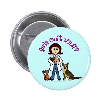 Fille vétérinaire légère badge