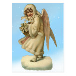 Fille victorienne d'ange de Noël Carte Postale