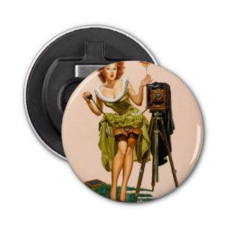 Fille vintage de pin-up d'appareil-photo