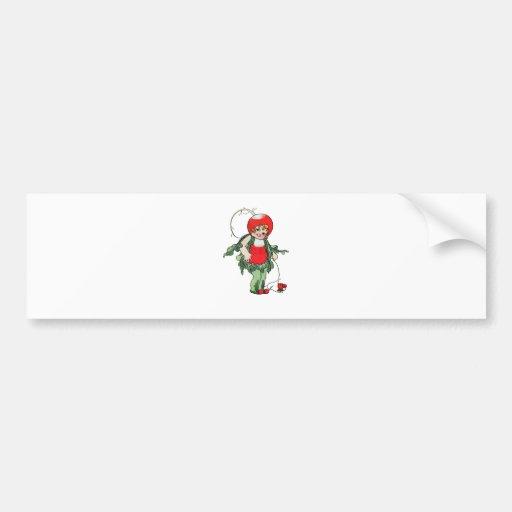 Fille vintage de radis de ~ d'illustration autocollants pour voiture