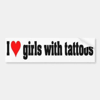 Filles avec des tatouages autocollant de voiture