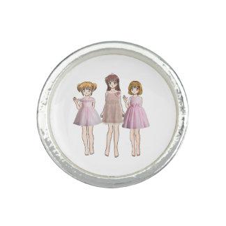 Filles d'Anime Bague Avec Photo