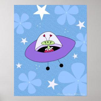 Filles de l'espace - l'alien de l'explorateur posters