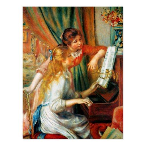 Filles de Renoir à la carte postale de piano