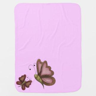 Filles de rose de papillon de pays couvertures pour bébé