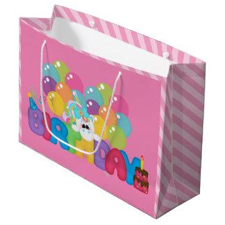 Filles de sac de cadeau de licorne de joyeux