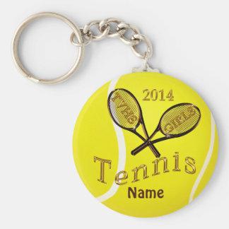 FILLES des porte - clés TVHS de tennis de Brown et Porte-clé Rond