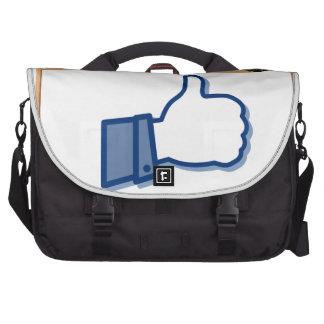 filles et pouce à bord sac ordinateur portable
