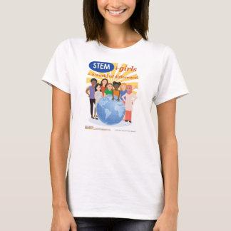 Filles et TIGE : Un monde de T-shirt d'adulte de