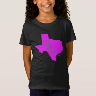 Filles fortes de T-shirt de #Texas d'enfer ou de