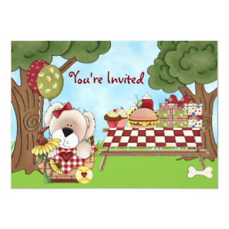 Filles mignonnes de ~ d'invitation d'anniversaire carton d'invitation  12,7 cm x 17,78 cm