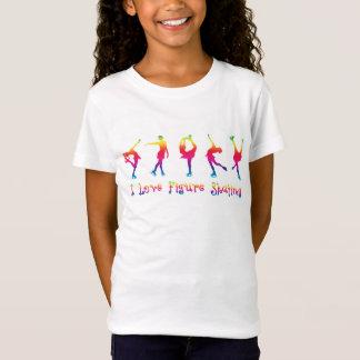 FILLES - patinage artistique d'amour d'I, couleurs T-Shirt