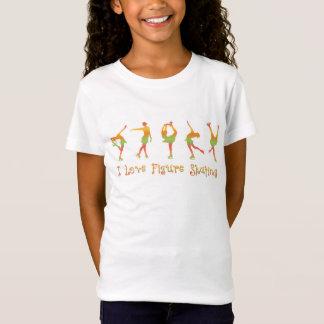 FILLES - patinage artistique d'amour d'I, melon T-Shirt