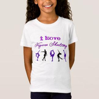 FILLES - patinage artistique d'amour d'I - T-Shirt