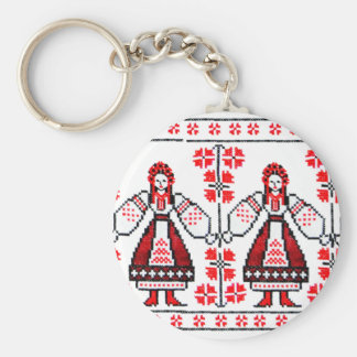 Filles ukrainiennes traditionnelles de l'Ukraine d Porte-clés