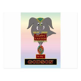Filleul de Pâques d'éléphant Carte Postale