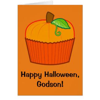 Filleul heureux de Halloween Carte De Vœux