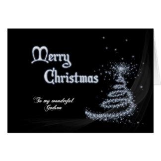 Filleul, une carte de Noël noire et blanche