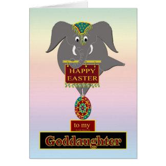 FILLEULE de Pâques d'éléphant Carte De Vœux