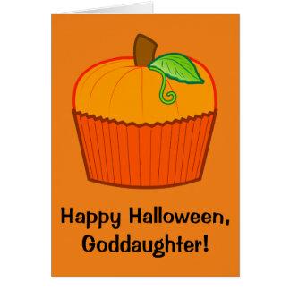 Filleule heureuse de Halloween Carte De Vœux