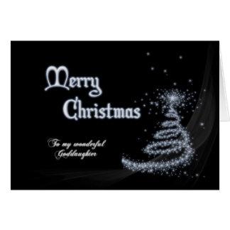 Filleule, une carte de Noël noire et blanche