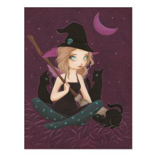 Filous - carte postale féerique de sorcière de