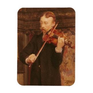 Fils d'Alma-Tadema | Maurice jouant le violon Magnet Flexible