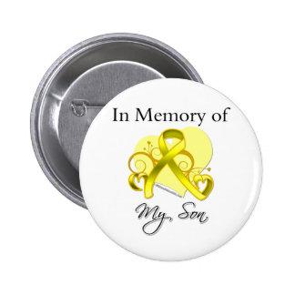 Fils - dans la mémoire de l'hommage militaire badge rond 5 cm