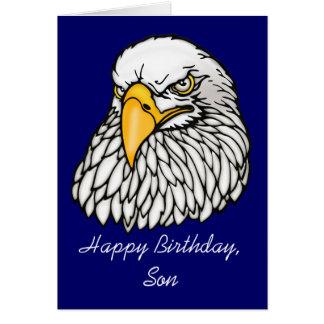 Fils dans l'anniversaire de troupes carte de vœux
