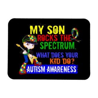 Fils d'autisme de spectre de roches magnet