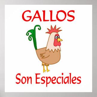 Fils Especiales de Gallos Posters