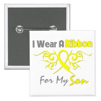 Fils - je porte un appui jaune de militaires de ru badge carré 5 cm