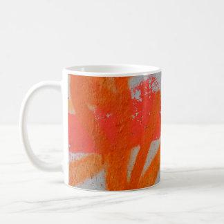 Fin à la mode abstraite de graffiti vers le haut mug