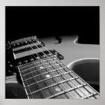 Fin de guitare électrique - B&W gris Affiches